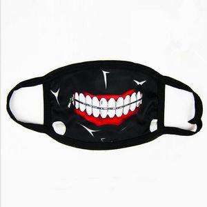 Tokyo Ghoul Kaneki Ken Horror Máscara de Cosplay de Halloween, Invierno Anti-Polvo de Algodón Divertido Caliente Máscara Boca Muffle envío rápido