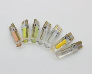100x T10 194 168 W5W Bianco gel di silice COB 20SMD LED Auto Lampadina Liquidazione parcheggio Luce targa di cristallo lampada 12V 100 pz