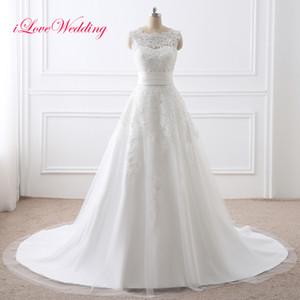 2018 Свадебные платья со съемной юбкой дешевые свадебные платья Jewel шеи без рукавов кружева аппликации короткие свадебные платья с поясом