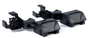 Tactical 45 Degree Offset Plegable de respaldo Vista de hierro Set Vista frontal de plegado trasero Vistas