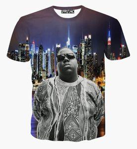 Nouveau mode 2017 hommes / femmes été tops tee shirts impression 3D caractère Biggie Smalls manches courtes t-shirt homme cool tshirt