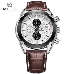 Chronograph-Funktion Herrenuhren aus echtem Leder Luxus Männer Top-Marke Military Watch Relogio Masculino