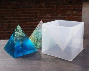 1 conjunto pirâmide Oversized molde de silicone DIY moldes de jóias de resina epóxi moldes para jóias