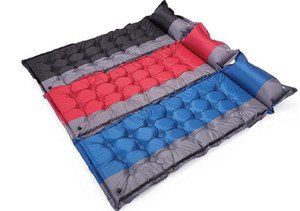 Tapis de camping gonflable automatique Tente de camp en plein air, matelas de couchage respirant à l'épreuve de l'humidité et respirant, matelas avec oreiller