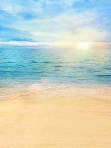 Пляж Тематические Фотостудии Фоны Красивые Утренние Восход Голубое Небо Морская Вода Летние Каникулы Дети Свадебные Фотографии Фон
