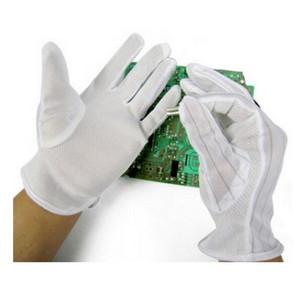 مكافحة ساكنة ESD الآمن العالمي قفازات قفازات العمل الإلكترونية PC الكمبيوتر قفازات السلامة المضادة للانزلاق لحماية الإصبع 10pairs