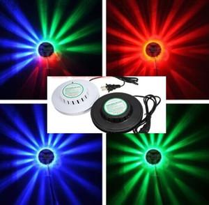 2017 NUOVO nero bianco Girasole LED Luce Magia 7 colori 48 LED auto Voice Activated LED RGB Stage Light per la festa in discoteca Festa in casa MYY