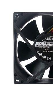 AD0812HB-A72GL ADDA 8cm 12V 0.25A 8025 3wire ventilador de enfriamiento