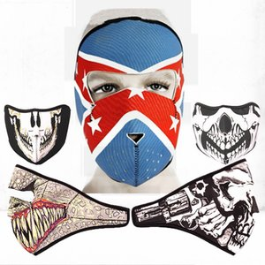 Adulto Full Mask Neoprene Ghost Skull Passamontagna Assassino Regolabile 2 in 1 Reversibile Full Face Mask Moto Snowboard Sci