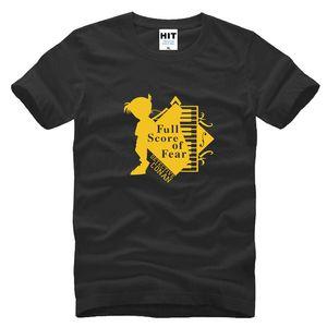 Detective Conan piano Divertido de dibujos animados Hombres Camiseta de Hombre de Moda 2017 Nueva Manga Corta Camiseta de Algodón Tee Camisetas Hombre