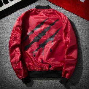 Primavera outono mens scratch padrão ma1 jaqueta bomber casacos mulheres harajuku casuais hip hop piloto jackets casaco masculino