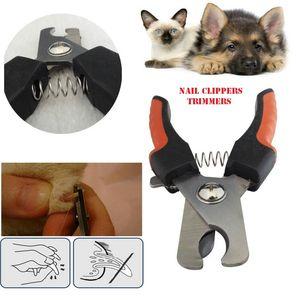 애완 동물 강아지 고양이 대형 / 중간 손톱 깎기 트리머 모든 개 gripsoft 발톱 스테인레스 스틸 손톱깎이 네일 케어 소매 상자 DHL