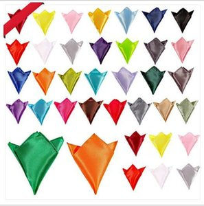 Herren Anzüge Tasche Handtuch Einfarbig Taschentuch Kleine Platz Hochzeit Bankett Krawatte 2017 Günstigstes Bräutigam Zubehör