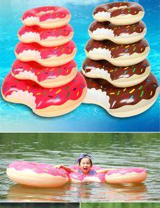 Плавательный поплавок Надувное плавательное кольцо для детей и взрослых Бассейн Плавучие пончики 30-120см Надувные поплавки по DHL