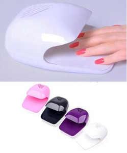 En gros Mini Vernis À Ongles Sèche Batterie Air Sécheur Machine Portable Ventilateur Sèche-Ongles Art Sécheuses 1 Pc / Lot