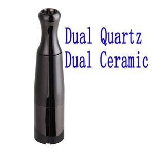 Top Skillet 2 vaporizador Kit @Puffc pro dupla Quartzo Rod câmara de cerâmica dupla cerâmica erva Bobinas Wax seco atomizador cigs caneta de vapor de ervas