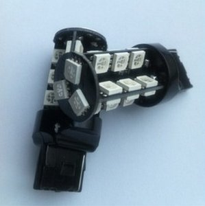 عرف 12 فولت سيارة أدى أضواء في canbus 7740/7743 27led 5050smd جانب السيارة الذيل ضوء احتياطية بدوره وقوف
