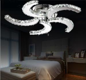 Neue moderne Glanz Led Leuchten Kristall Deckenventilator Form für Raum-Bett-Zimmer Arbeitszimmer dekorative Beleuchtung zu Hause lebenden Lampen LLFA