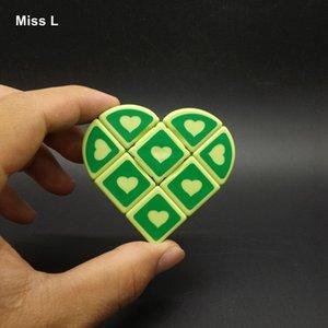Cubo de coleção 1x3x3 Magic Cube Heart Puzzle Inteligência IQ Cérebro Teaser Mind Test Toy Game Adulto Anti Stress Presente de natal