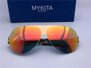 gafas de sol de los hombres gafas de sol de los hombres de lujo para las mujeres Lentes de sol MYKITA de lujo de estilo clásico estilo de marco piloto Franz