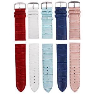 Correa de reloj de cuero de la pu 12mm / 14mm / 16mm / 18mm / 20mm / 22mm / 24mm / 26mm Suéter suave 2016 Correa de reloj Reloj de pulsera Accesorios