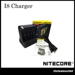 Autentico caricabatterie intelligente Nitecore i8 Multi-Slot carica 8 batterie contemporaneamente, I8 è un risparmio di tempo Originale al 100%