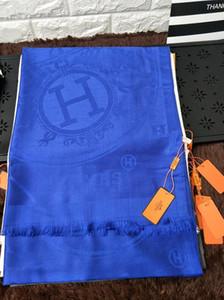 Haute Qualité Célébrité conception Coton Cachemire Écharpe De Mode Lettre Impression Foulards Châle Wrap 180 * 70 cm