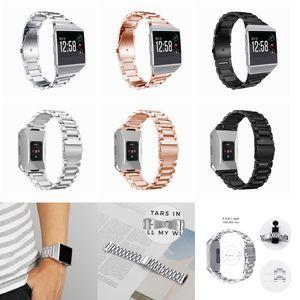 Fitbit 이온 스마트 손목 시계 교체 팔찌 스트랩 시계 밴드에 대 한 3 색 럭셔리 스테인레스 스틸 시계 밴드 FC0147