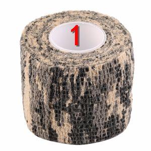 2016 nuevo caliente 1 Roll Men Army cinta adhesiva de camuflaje para caza exterior Stealth Wrap envío gratis