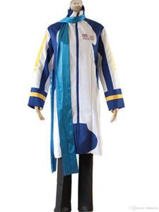 Kukucos أنيمي vocaloid الرجال vocaloid تأثيري حلي kaito ذكر حجم هالوين زي معطف طويل مع السراويل