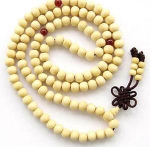 8mm - 향기로운 크림색의 흰색 - 백단향 - 108 - Buddha-Prayer-Bead-Necklace-Bracelet 8mm- 향긋한 크림색의 흰색 백단향 - 108 - Buddha-Prayer-Bead-