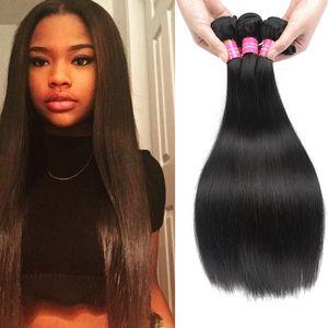 Ausverkauf! Seidig Peruanisches Vigin Haar Gerade 4 Stücke Peruanisches Menschliches Haar Spinnt 100g Unverarbeitete Peruanische Haar Hohe Qualität 8A