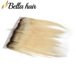 """Hetero 13x4"""" Cabelo Louro Lace frontal Ear Virgin Cabelo extensões do cabelo humano brasileiro na Orelha Encerramento # 1b / 613 Top Quality Bellahair"""