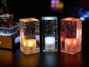 lampe de table cristal charge conduit lampe de table bar lumière nuit colorée café romantique KTV bar restaurant de la lampe