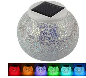 تغيير لون بالطاقة زجاج الكرة بقيادة حديقة المصابيح الشمسية، القابلة لإعادة الشحن أضواء الجدول الشمسية، في الهواء الطلق مقاوم للماء ليلة الشمسية أضواء الجدول مصباح