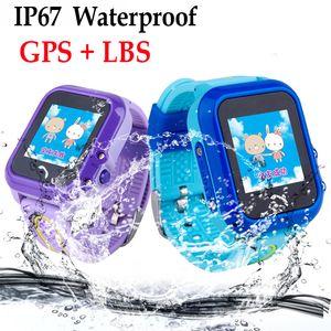 DF27 IP67 Su Geçirmez Çocuk bebek GPS Yüzmek telefon akıllı İzle SOS Çağrı Konumu Cihazı Izci Çocuklar Güvenli Anti-Kayıp Monitör
