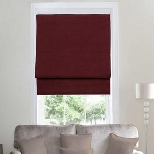 Neuheiten Leinen Flat Blinds Solide Vorhänge mit Blackout-Funktion Fenster Behandlung Burgund / Purple / Blue / Green Roller