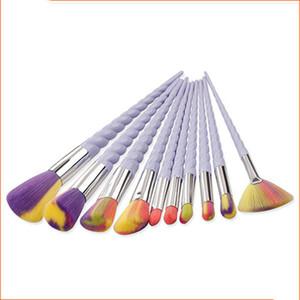 10 Adettakım Oval Makyaj Fırça Eyeliner Kaş Makyaj Fırçalar Maquillaje Tıraş Toptan # B001