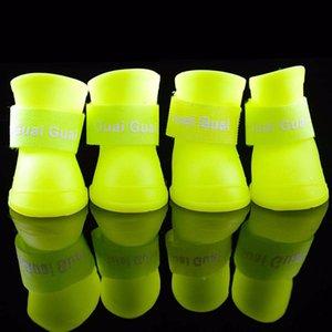 Scarpe da cane superiori Impermeabile Pet antiscivolo design Teddy Rain Dog Boots Scarpe Pet Outdoor Piccoli Scarpe di marca Pet vestiti