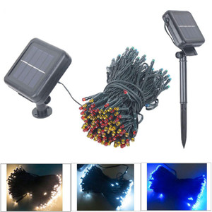 7M 50LED Solar led fairy String Light Christmas light fairy light garland outdoor Wedding Garden Party Decor With Battery