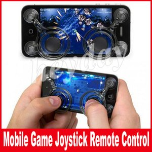 """4.7"""" Ekran için iPhone Samsung samrtphone oyun iPad pod Touch için Mobil Joystick Çift analog joystickler Akıllı Klip"""