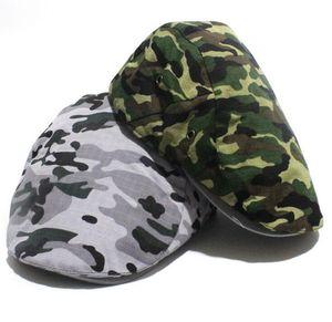 Mode camouflage Été Casquettes chapeaux de soleil pour homme femme de haute qualité Casual Cotton Beret Boina Mode