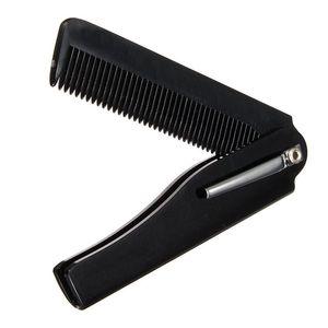 Оптово Мужская мода Hot женщин ручной складной карманный зажим для волос Усы Борода Comb