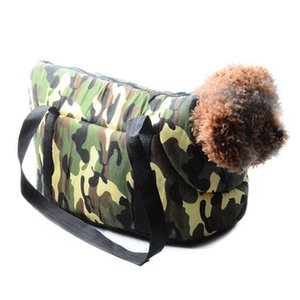 S L Pet Dog Cat Carrier Canvas Cotton Outdoor Travel Tote Bag for Puppy Dog Bag Camouflage Carrier Breathable Pet Supplies