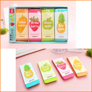 Deli Novelty (Large Size) Candy Color Fruit Smell Pencil Erasers, Cute Kawaii Stationery Office And School Supplies For Kids Children