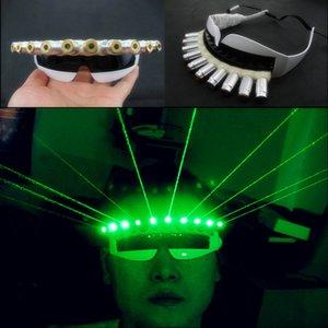 Óculos de LED verde legal luz do laser verde laser óculos de laser óculos óculos suprimentos necessários / noite / adereços de palco