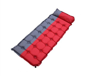 Outdoor auto-Inflatable Cushion Sleeping Bag Mat Fast Filling Air Moistureproof Camping Picnic Weekend Mat With Pillow Sleeping Pad