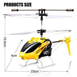 Original syma w25 rc helicóptero zangão 2 canais interior mini rc zangão com giroscópio brinquedo de controle de rádio para crianças