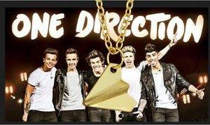 Encanto Collares pendientes Joyas Accesorios de Joyería de Moda Banda Unidireccional de One Direction Hombres Mujeres Papel Avión Gargantilla Collares