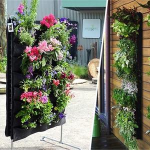 Original Flower Pot Polyester Wall-mounted Vertical Hanging Flower Pot Planting Bag Living Indoor Wall Planter Garden Pot